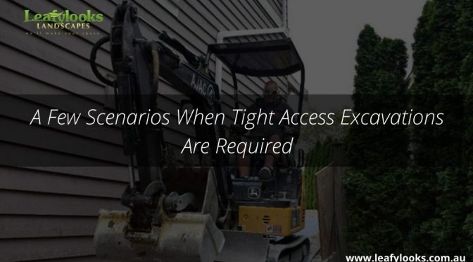 A Few Scenarios When Tight Access Excavations Are Required